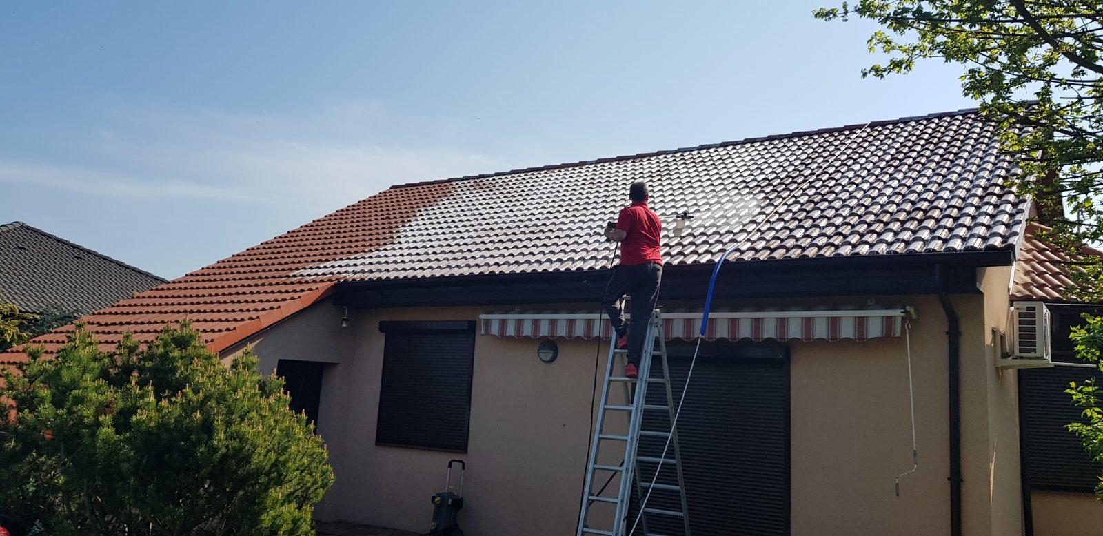mycie i czyszczenie dachu